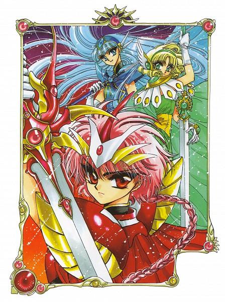 Tags: Anime, CLAMP, Magic Knight Rayearth, Ryuuzaki Umi, Shidou Hikaru, Hououji Fuu, Official Art