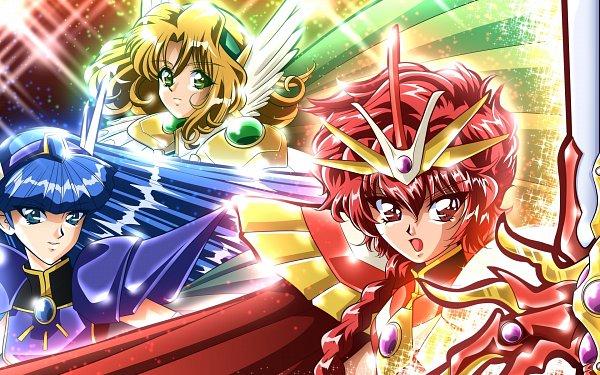 Tags: Anime, Pixiv Id 4682741, Magic Knight Rayearth, Shidou Hikaru, Hououji Fuu, Ryuuzaki Umi, Fanart From Pixiv, Wallpaper, Pixiv, Fanart