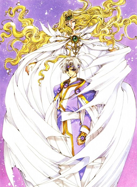 Tags: Anime, CLAMP, Magic Knight Rayearth, CLAMP North Side, Emeraude (CLAMP), Eagle Vision, Official Art