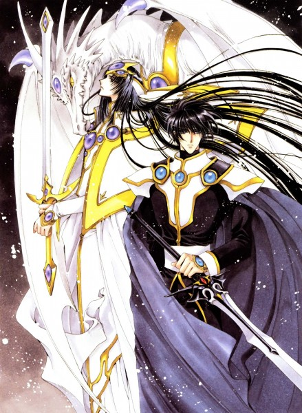 Tags: Anime, CLAMP, Magic Knight Rayearth, CLAMP North Side, Zagato, Lantis, Official Art