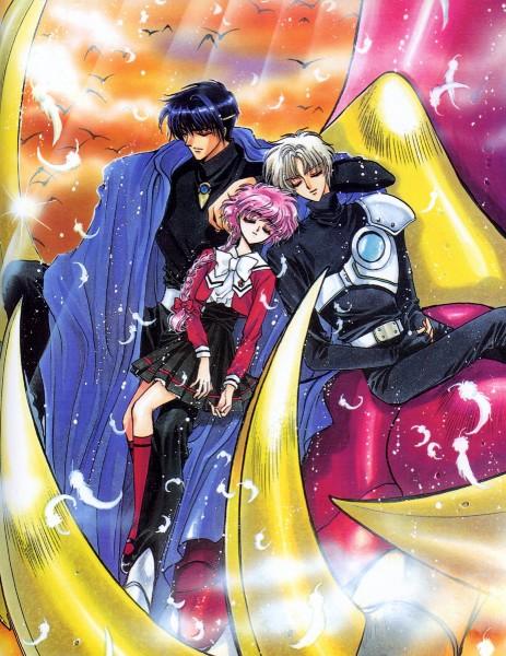 Tags: Anime, CLAMP, Magic Knight Rayearth, Eagle Vision, Shidou Hikaru, Lantis, Peaceful, Official Art