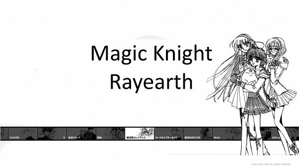 Tags: Anime, CLAMP, Magic Knight Rayearth, Mokona Modoki, Hououji Fuu, Ryuuzaki Umi, Shidou Hikaru, Wallpaper