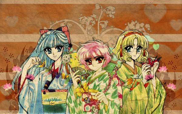 Tags: Anime, Magic Knight Rayearth, Shidou Hikaru, Hououji Fuu, Ryuuzaki Umi, Wallpaper, Pixiv, Fanart