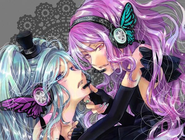 Tags: Anime, Yukinokoe, VOCALOID, Hatsune Miku, Megurine Luka, Magnet