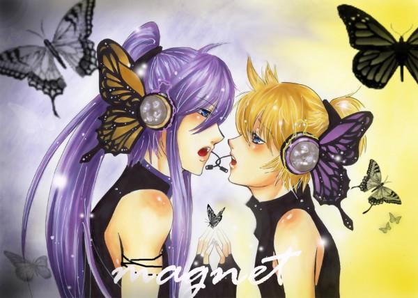 Tags: Anime, Maohheika, VOCALOID, Kamui Gakupo, Kagamine Len, deviantART, Fanart, Magnet