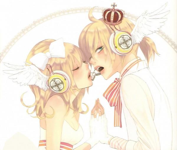 Tags: Anime, Yunomi, VOCALOID, Kagamine Len, Kagamine Rin, Twincest, Bright Colors, Magnet, Kagamine Mirrors