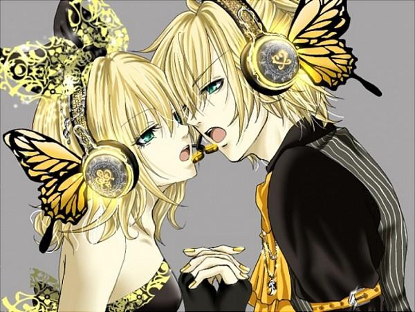 Tags: Anime, VOCALOID, Kagamine Rin, Kagamine Len, Magnet, Kagamine Mirrors