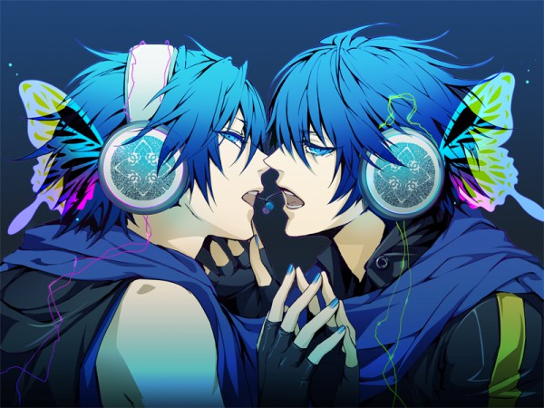 Tags: Anime, Double Click (artist), VOCALOID, KAITO, Pixiv, Edited, Fanart, Magnet
