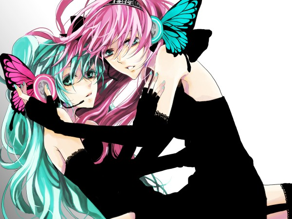 Tags: Anime, Imori, VOCALOID, Megurine Luka, Hatsune Miku, Wallpaper, Magnet, Piapro Illustrated