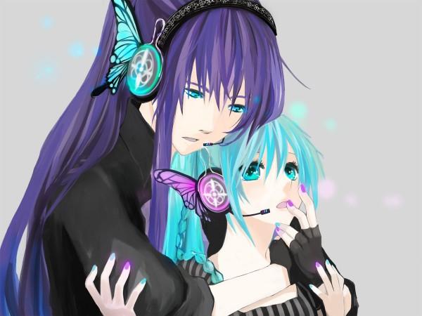 Tags: Anime, Honoka (Pixiv130846), VOCALOID, Kamui Gakupo, Hatsune Miku, Magnet, Pixiv