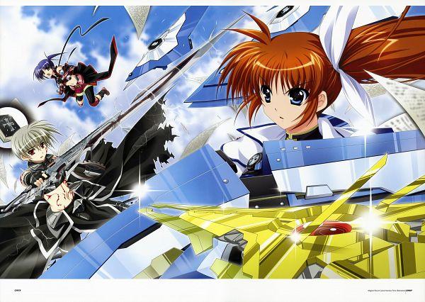 Tags: Anime, Higa Yukari, Mahou Senki Lyrical Nanoha Force, Nyantype #14 2011-01, Magical Record Lyrical Nanoha Force Illustrations, Thoma Avenir, Takamachi Nanoha, Isis Eaglet, Scan, Official Art
