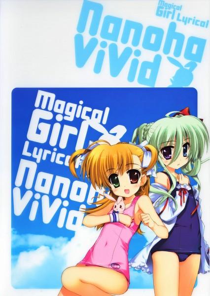 """Tags: Anime, Fujima Takuya, Mahou Shoujo Lyrical Nanoha ViVid, Mahou Shoujo Lyrical Nanoha, Takamachi Vivio, Einhart Stratos, Sacred Heart (""""Chris""""), Pixiv, Magical Girl Lyrical Nanoha"""