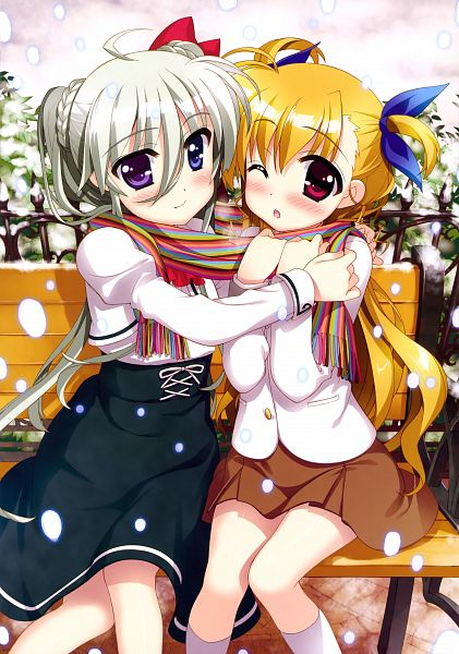 Tags: Anime, Fujima Takuya, Mahou Shoujo Lyrical Nanoha ViVid, Vividgarden, Einhart Stratos, Takamachi Vivio, Mobile Wallpaper, Scan, Official Art, Magical Girl Lyrical Nanoha Vivid