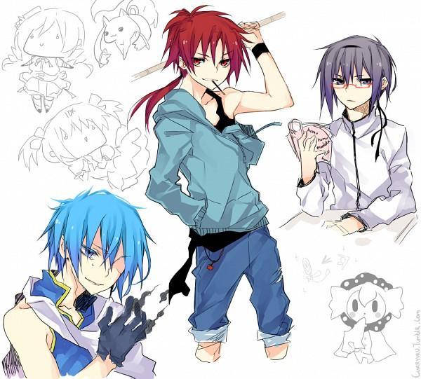 Tags: Anime, Curryuku, Mahou Shoujo Madoka☆Magica, Tomoe Mami, Sakura Kyouko, Miki Sayaka, Charlotte (Madoka Magica), Kaname Madoka, Kyubee, Akemi Homura, Tumblr, Sketch, Fanart, Magical Girl Madoka Magica