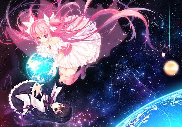 Tags: Anime, Hayakawa Harui, Mahou Shoujo Madoka☆Magica, Ultimate Madoka, Kaname Madoka, Akemi Homura, Magical Girl Madoka Magica
