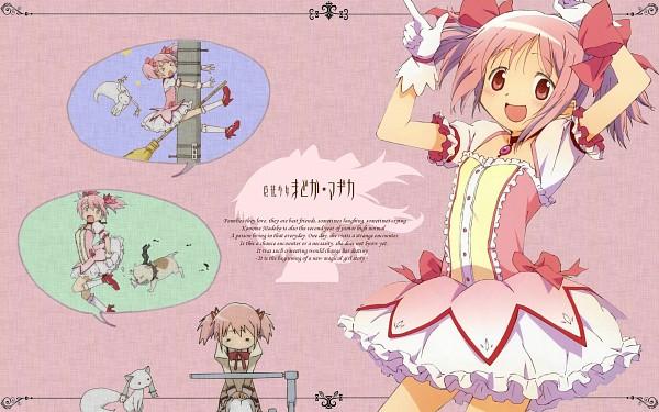 Tags: Anime, Mahou Shoujo Madoka☆Magica, Kaname Madoka, Kyubee, Wallpaper, Magical Girl Madoka Magica