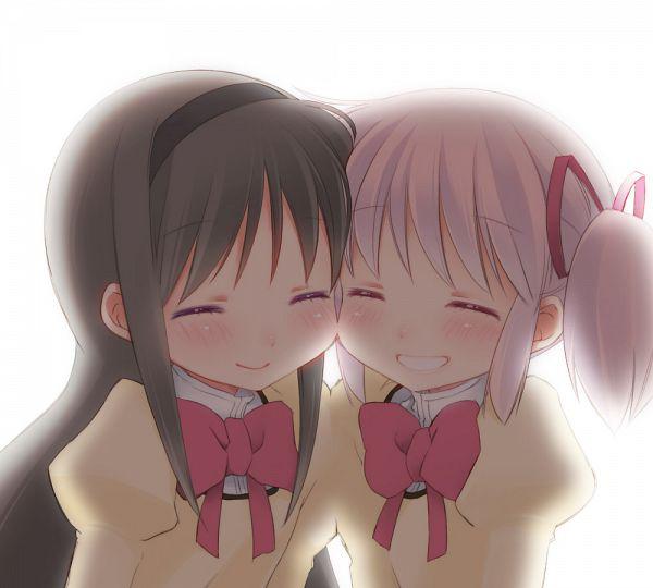 Tags: Anime, Ko Ru Ri, Mahou Shoujo Madoka☆Magica, Kaname Madoka, Akemi Homura, Backlight, Fanart From Pixiv, Pixiv, Fanart, Magical Girl Madoka Magica