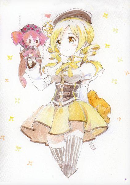 Tags: Anime, Tiv, Mahou Shoujo Madoka☆Magica, life of negentropy, Tomoe Mami, Charlotte (Madoka Magica), Mobile Wallpaper, Scan, Fanart, Magical Girl Madoka Magica