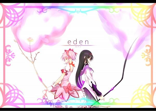 Tags: Anime, Pixiv Id 3583541, Mahou Shoujo Madoka☆Magica, Akemi Homura, Kaname Madoka, Pixiv, Fanart From Pixiv, Fanart, Magical Girl Madoka Magica