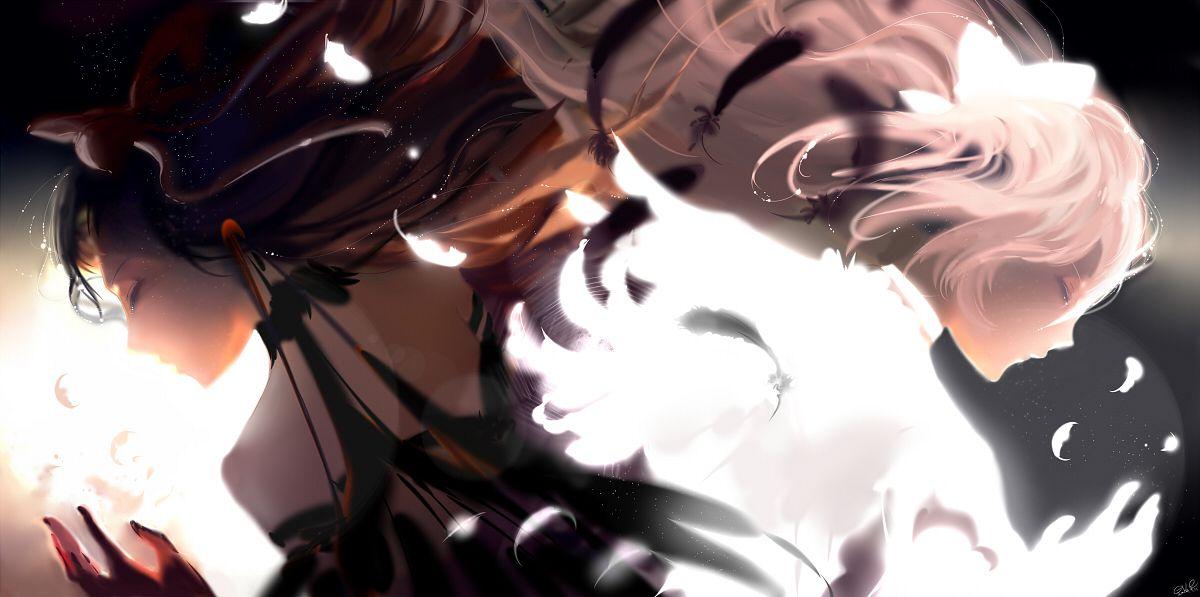 Tags: Anime, Pixiv Id 12039610, Mahou Shoujo Madoka☆Magica, Akemi Homura, Akuma Homura, Ultimate Madoka, Kaname Madoka, Pixiv, Fanart From Pixiv, Fanart, Facebook Cover