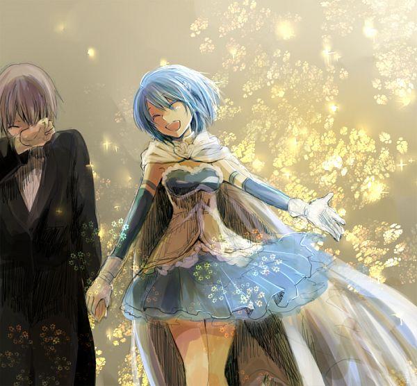 Tags: Anime, Pixiv Id 874760, Mahou Shoujo Madoka☆Magica, Miki Sayaka, Kamijou Kyousuke, Fanart From Pixiv, Pixiv, PNG Conversion, Fanart, Magical Girl Madoka Magica
