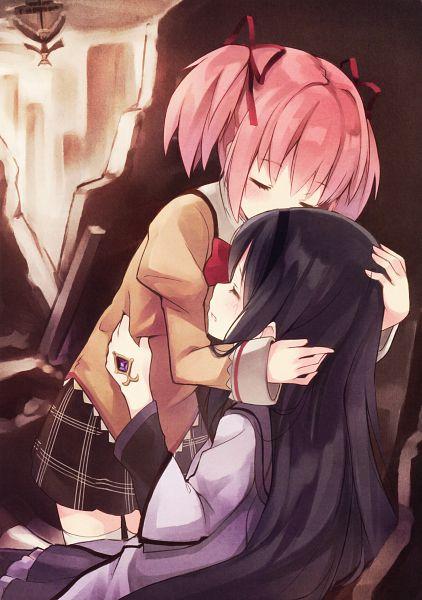 Tags: Anime, Kyuri, Mahou Shoujo Madoka☆Magica, Girls Log Vol.3 ~PLUS~, Kaname Madoka, Akemi Homura, Scan, Comic Market, Mobile Wallpaper, Comic Market 84, Magical Girl Madoka Magica