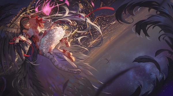 Tags: Anime, Alphonse, Mahou Shoujo Madoka☆Magica, Kaname Madoka, Akemi Homura, Akuma Homura, Fanart, Facebook Cover, Revision, Fanart From Pixiv, Pixiv, Magical Girl Madoka Magica