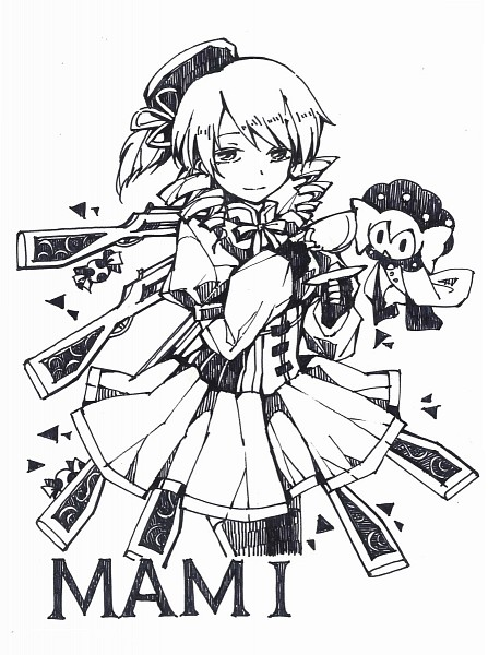 Tags: Anime, Nishigyou Teraa, Mahou Shoujo Madoka☆Magica, Tomoe Mami, Charlotte (Madoka Magica), Mobile Wallpaper, Pixiv, Fanart From Pixiv, Fanart, Magical Girl Madoka Magica
