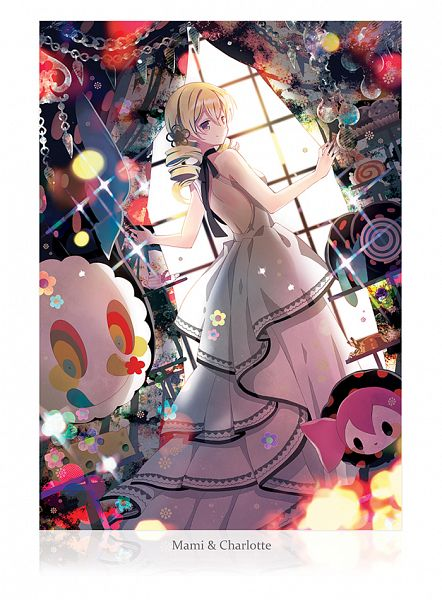Tags: Anime, Renian, Mahou Shoujo Madoka☆Magica, Charlotte (Madoka Magica), Tomoe Mami, Pyotr, Comic Market, Mobile Wallpaper, Comic Market 89, Magical Girl Madoka Magica