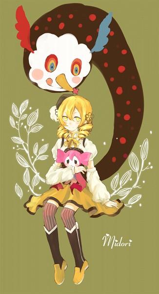 Tags: Anime, Tunami, Mahou Shoujo Madoka☆Magica, Charlotte (Madoka Magica), Tomoe Mami, Pixiv, Fanart From Pixiv, Fanart, Mobile Wallpaper, Magical Girl Madoka Magica