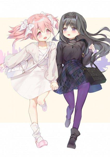 Tags: Anime, Mullpull, Mahou Shoujo Madoka☆Magica, Kaname Madoka, Akemi Homura, Magical Girl Madoka Magica
