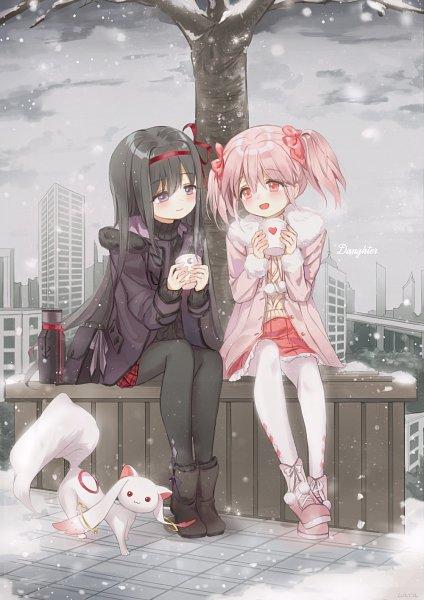 Tags: Anime, Mullpull, Mahou Shoujo Madoka☆Magica, Kaname Madoka, Akemi Homura, Kyubee, Magical Girl Madoka Magica