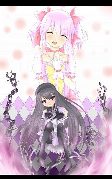 Tags: Anime, Pixiv Id 2583161, Mahou Shoujo Madoka☆Magica, Akemi Homura, Kaname Madoka, Pixiv, Fanart From Pixiv, Fanart, Magical Girl Madoka Magica