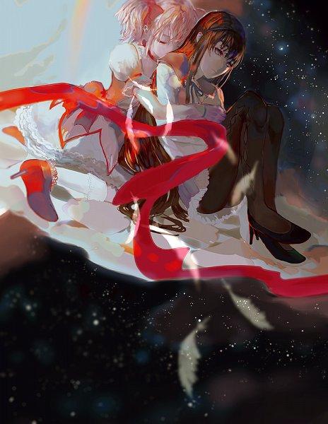 Tags: Anime, Iyumekai, Mahou Shoujo Madoka☆Magica, Kaname Madoka, Akemi Homura, Pixiv, Fanart From Pixiv, Fanart, Magical Girl Madoka Magica
