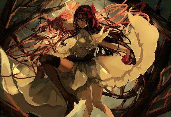 Tags: Anime, Pixiv Id 1651907, Mahou Shoujo Madoka☆Magica, Akemi Homura, Ultimate Madoka, Akuma Homura, Kaname Madoka, Reptile, Pixiv, Fanart From Pixiv, Fanart, Magical Girl Madoka Magica