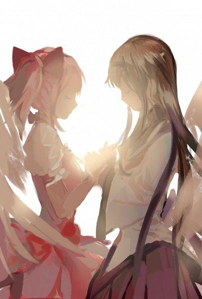 Tags: Anime, Pixiv Id 1651907, Mahou Shoujo Madoka☆Magica, Kaname Madoka, Akemi Homura, Pixiv, Fanart From Pixiv, Fanart, Magical Girl Madoka Magica