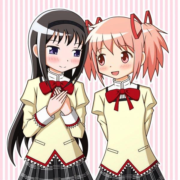 Tags: Anime, Pixiv Id 4027591, Mahou Shoujo Madoka☆Magica, Kaname Madoka, Akemi Homura, Pixiv, Fanart From Pixiv, Fanart, Magical Girl Madoka Magica