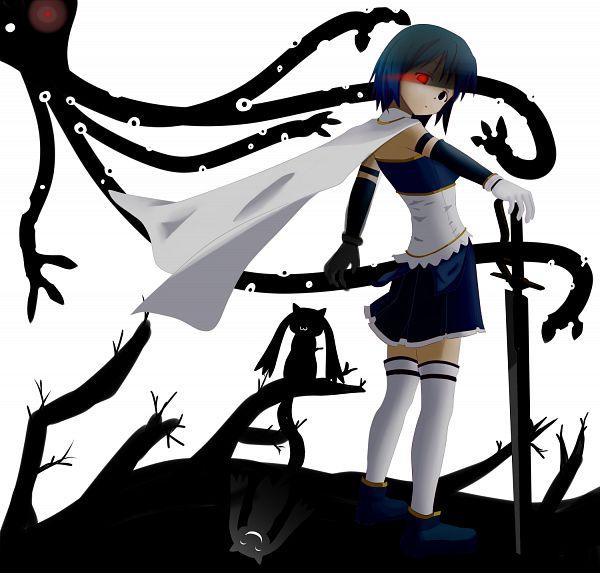 Tags: Anime, Pixiv Id 2746535, Mahou Shoujo Madoka☆Magica, Miki Sayaka, Kyubee, Pixiv, Fanart From Pixiv, Fanart, Magical Girl Madoka Magica