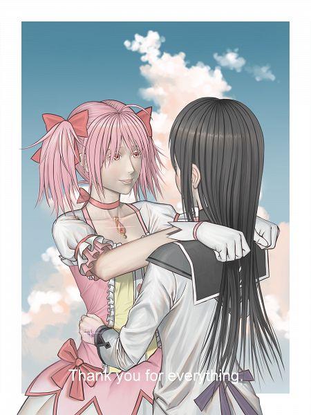 Tags: Anime, Pixiv Id 11642341, Mahou Shoujo Madoka☆Magica, Kaname Madoka, Akemi Homura, Pixiv, Fanart From Pixiv, Fanart, Magical Girl Madoka Magica