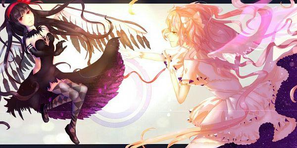 Tags: Anime, Pixiv Id 11709877, Mahou Shoujo Madoka☆Magica, Kaname Madoka, Akemi Homura, Akuma Homura, Ultimate Madoka, Fanart From Pixiv, Fanart, Pixiv