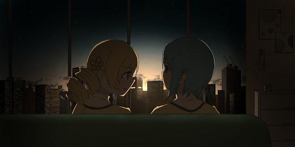 Tags: Anime, Pixiv Id 57189278, Mahou Shoujo Madoka☆Magica, Miki Sayaka, Tomoe Mami, Living Room, Pixiv, Fanart From Pixiv, Fanart