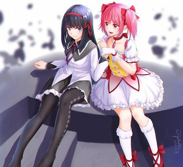 Tags: Anime, Pixiv Id 10783967, Mahou Shoujo Madoka☆Magica, Kaname Madoka, Akemi Homura, 2021, Pixiv, Fanart From Pixiv, Fanart