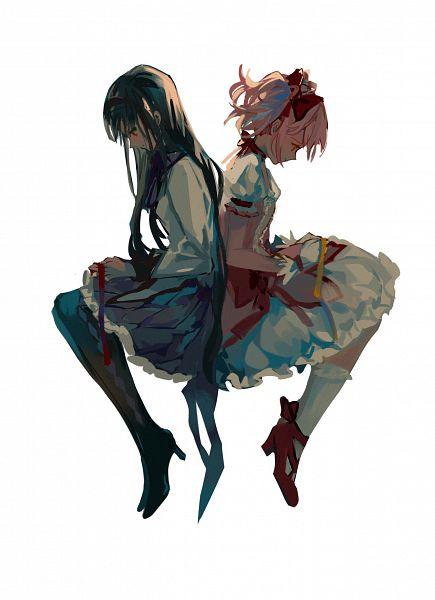 Tags: Anime, Pixiv Id 1651907, Mahou Shoujo Madoka☆Magica, Kaname Madoka, Akemi Homura, Pixiv, Fanart From Pixiv, Fanart