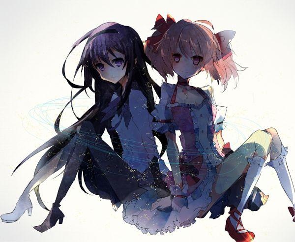Tags: Anime, Pixiv Id 5086247, Mahou Shoujo Madoka☆Magica, Kaname Madoka, Akemi Homura, Pixiv, Fanart From Pixiv, Fanart