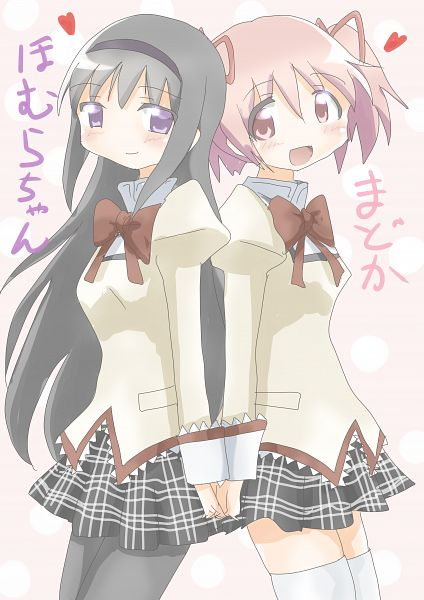 Tags: Anime, Pixiv Id 22020718, Mahou Shoujo Madoka☆Magica, Kaname Madoka, Akemi Homura, Pixiv, Fanart From Pixiv, Fanart