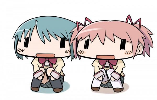 Tags: Anime, Denden, Mahou Shoujo Madoka☆Magica, Miki Sayaka, Kaname Madoka, Fanart, Pixiv, Magical Girl Madoka Magica
