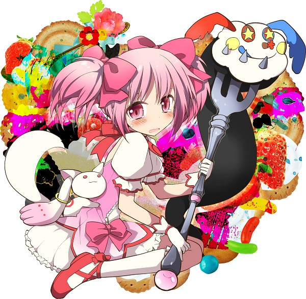 Tags: Anime, Kamiyoshi, Mahou Shoujo Madoka☆Magica, Charlotte (Madoka Magica), Kyubee, Kaname Madoka