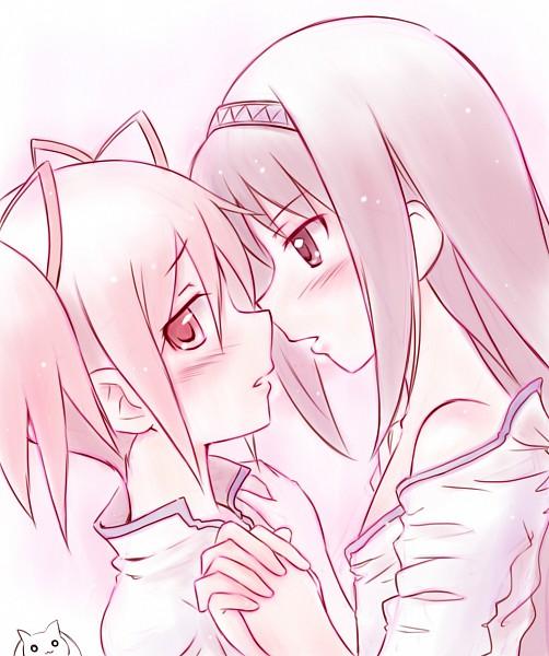 Tags: Anime, Satogo, Mahou Shoujo Madoka☆Magica, Kyubee, Kaname Madoka, Akemi Homura
