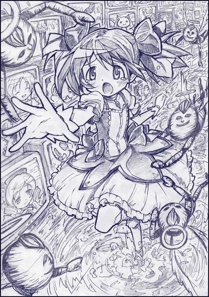 Tags: Anime, Sakino Shingetsu, Mahou Shoujo Madoka☆Magica, Charlotte (Madoka Magica), Kyubee, Tomoe Mami, Kaname Madoka