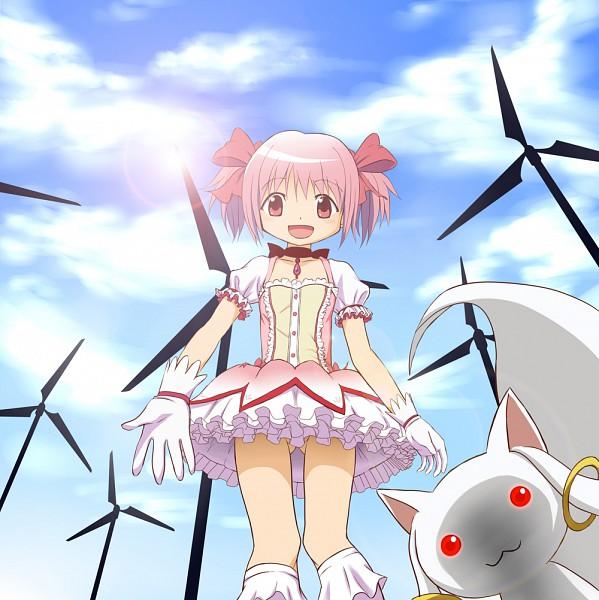 Tags: Anime, Oki (Oksam), Mahou Shoujo Madoka☆Magica, Kyubee, Kaname Madoka